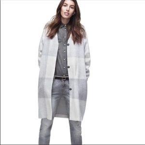 Adam Lippes for Target Gray White Plaid Coat